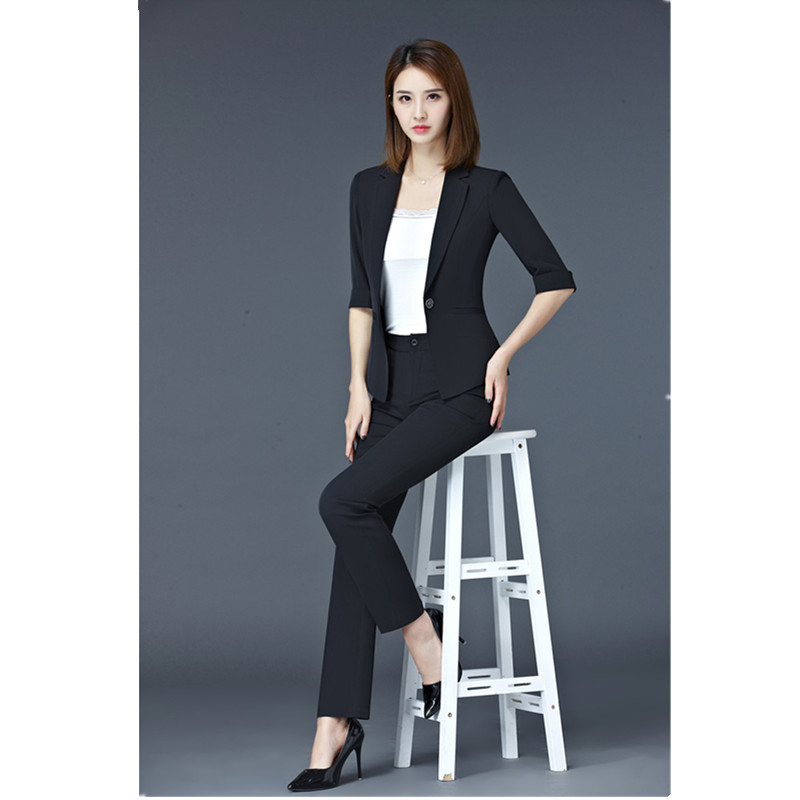 Женские деловые костюмы, черный блейзер, деловые костюмы, деловые костюмы, одежда для работы, женские брюки и куртки, комплекты