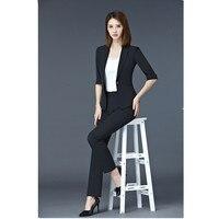 Pantsuits Black Blazer Women Business Suits Formal Office Suits Work Wear Uniforms Ladies Pant and Jacket Sets