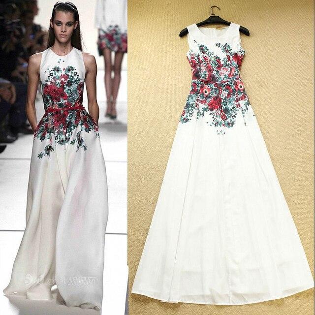 f1bbf967c Floral blanco Casual Simple largo vestidos noche marroquí Kaftan vestidos  fiesta Robe De soirée Vestido De