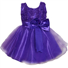 tutu Red party princess dress layered Dresses baby Chiffon girls clothes Suitable for 1-11 years old children
