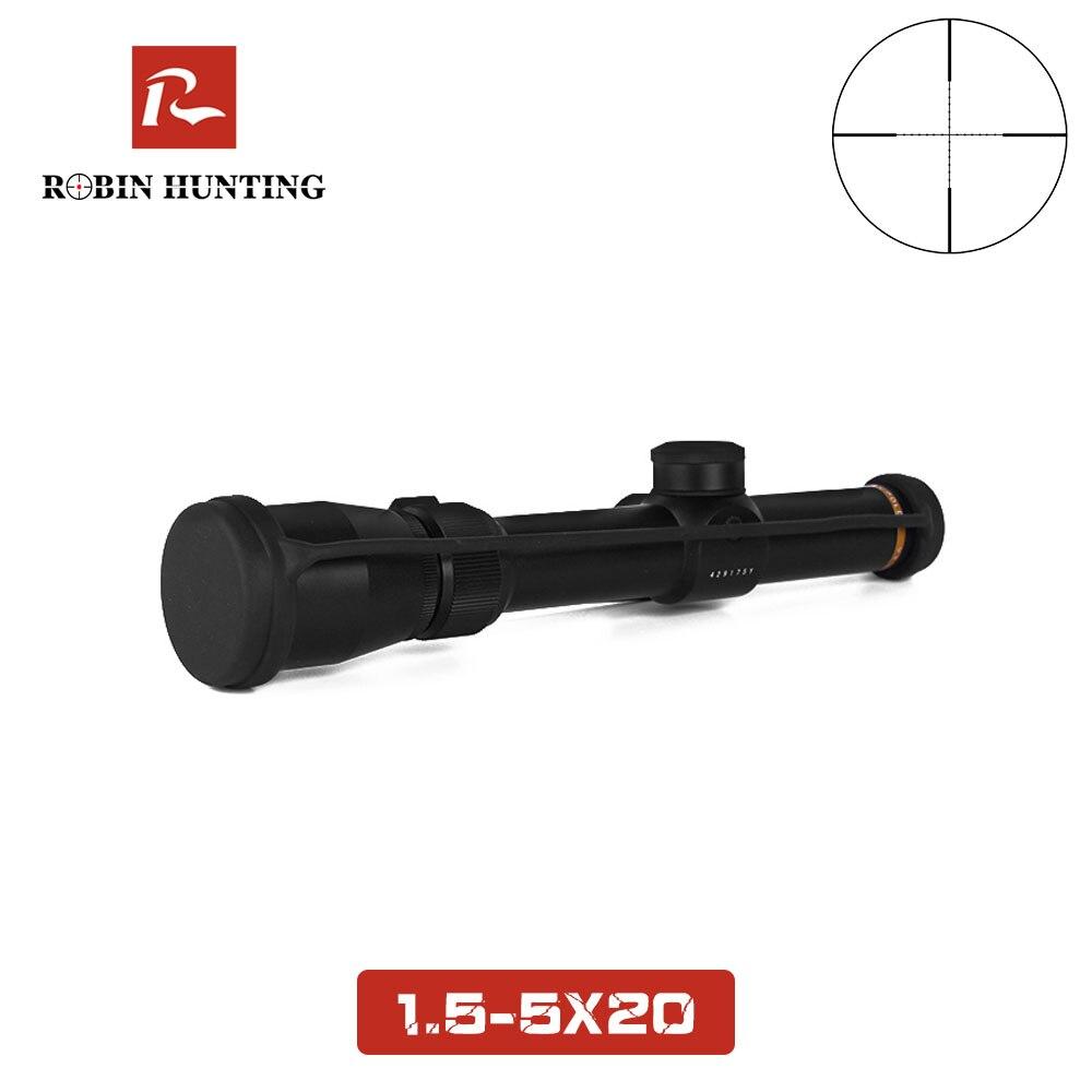 1.5-5x20 portée de fusil tratique chasse optique vue Mil-dot réticule 20mm diamètre du Tube 1.5-5X grossissement chasse lunette de visée