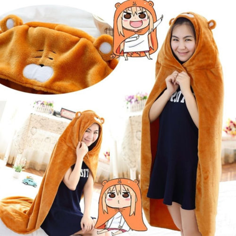 Anime Himouto! Umaru-chan Cosplay Cloak Kawaii Flannel Coat Daily Blanket Quilt shawl cape amice robe tippet wrap costumes