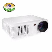 Todos Ganan LCD 5200 Lúmenes Proyector Full HD TV Proyector para el Hogar Teatro 3D Soporte de Vídeo HDMI USB 1080 P Beamer TL120