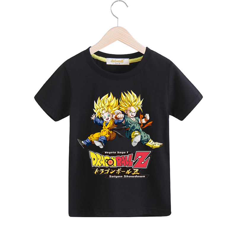 2018 Boy Girls Summer Cotton T-shirt Children 3D Anime Dragon Ball Z Print Tee Tops Clothes Kids Clothing Baby Goku Tshirt TX046