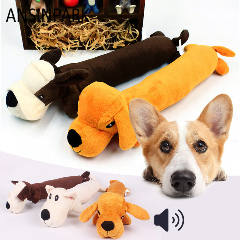 Ansinpark Animal Chew Toy Dog Toys Cat Vocalization In Cloth Dolls Toy Dick Dog Pet Toys Accessories Products High Quality P999