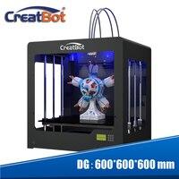 Высокая точность 3D принтеры heatbed двойной экструдер супер большой 600*600*600 мм creatbot DG02 + 4 кг нити + 4 шт. Насадка + 2 ленты