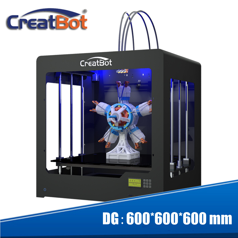 High Accuracy font b 3D b font font b Printer b font heatbed dual extruder super