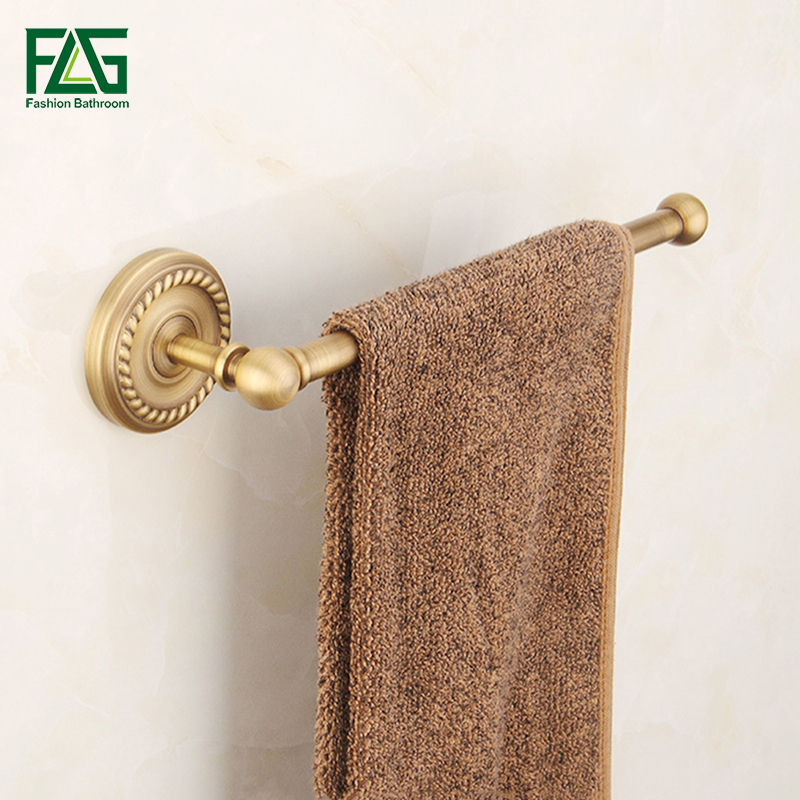 European Copper Antique Bronze Towel Rack Toilet Towel Bar Bathroom Single Bar,Wall Mounted Bathroom Accessories,Free Shipping european copper gold towel rack toilet towel bar bathroom antique rotary towel bar antique activities towel 3 bar f91381
