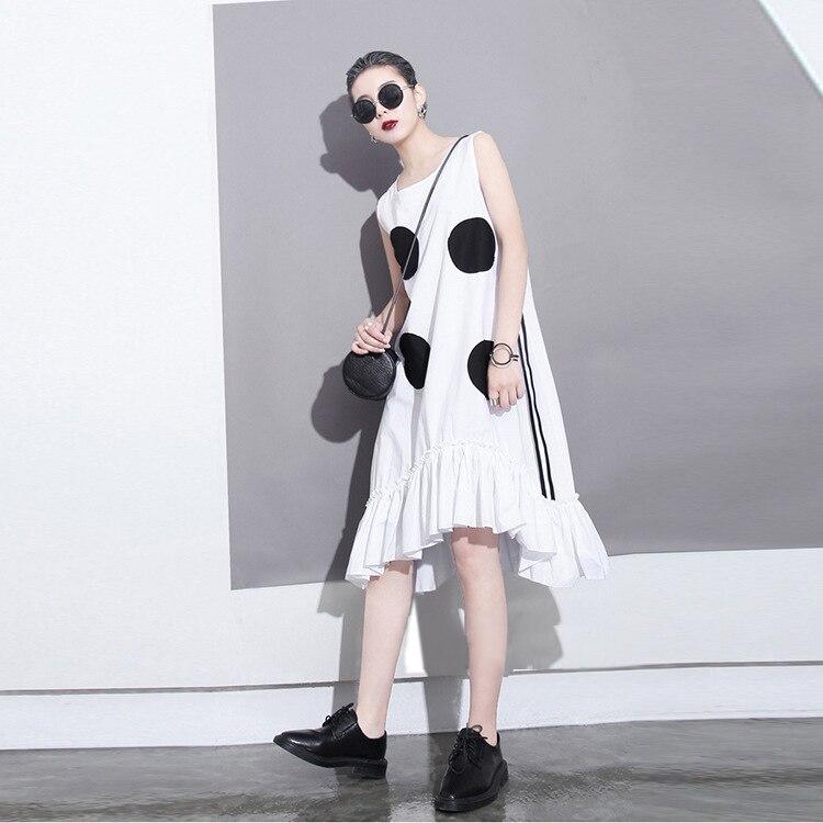 2018 estilo coreano mujeres del verano vestido negro sol grandes - Ropa de mujer - foto 4