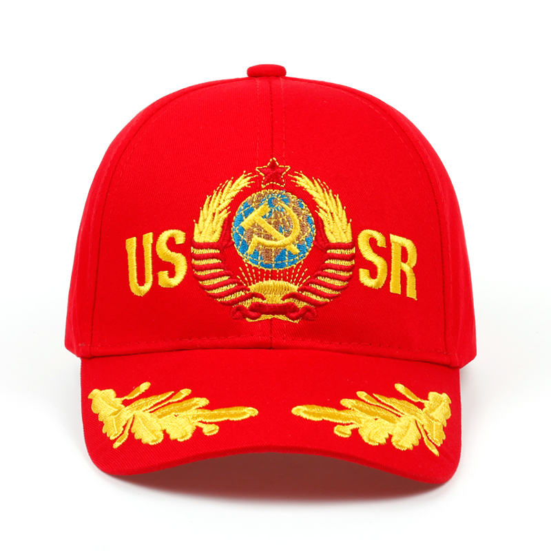 2019 CCCP USSR Russian Style Baseball Cap Unisex black Red cotton snapback Cap with 3D embroidery Best quality hats 2