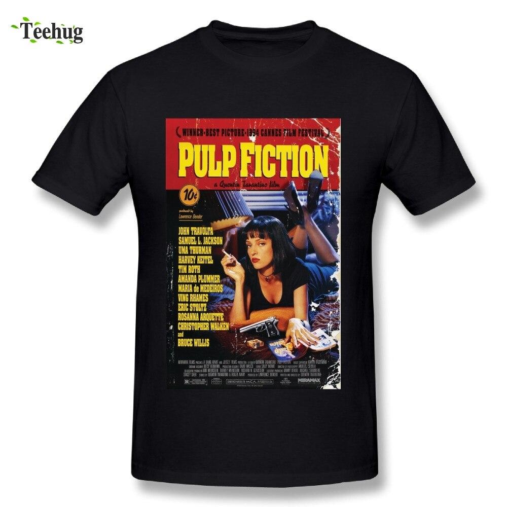 New Arrival Man Pulp Fiction T Shirt Classic Movie Fashionable Streetwear T-Shirt nomes para listas de associaçao de estudantes