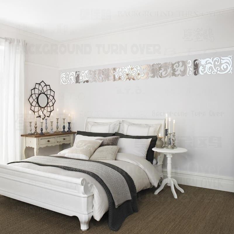 Модные креативные европейской роскоши фон линии талии зеркала настенные наклейки магазины диваном Home Decor стикер на стене R241