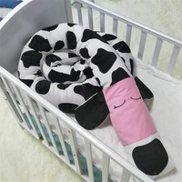 2m Nordic Dog Shape Baby Bed Bumper Infant Crib Cushion Baby Protector Newborn Cot Around Pillows Room Decor for Kids Bedroom