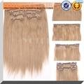 """Produtos de cabelo Yotchoi #27 clipe em conjuntos honey blonde cor 5A grau 8 """"-24"""" 100% grampo de cabelo humano em extensões de cabelo 5 pçs/set"""