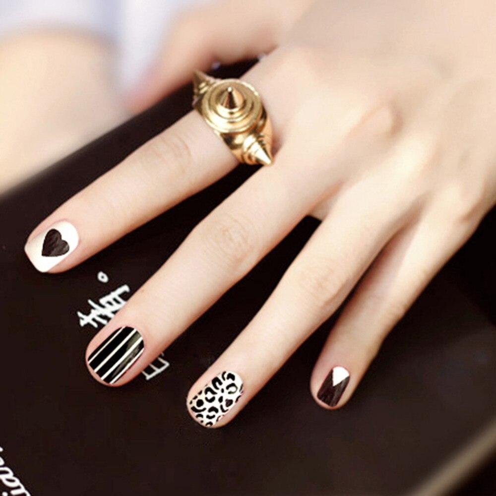 Nette Künstliche Nägel mit Designs Full Cover Französisch Tipps ...