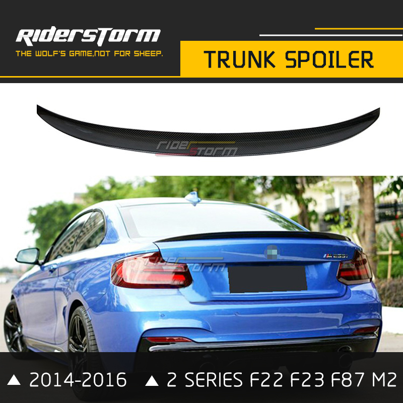 F22 Performance Carbon Fiber Spoiler F23 F87 M2 Wing Rear Trunk Lip For BMW 2 Series 2014-2016 2 Door Coupe M235i 218i 220i f22 performance carbon fiber spoiler f23 f87 m2 wing rear trunk lip for bmw 2 series 2014 2016 2 door coupe m235i 218i 220i
