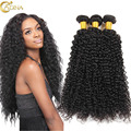 7A Curly Weave Brazilian Virgin Real Human Hair 3 Bundle Deals Kinky Curly Human Hair Weave Natural Curly Weave Online Sales