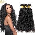 7A cabelo Encaracolado Weave Brasileiro Do cabelo Humano Real Virgem Do Cabelo 3 Pacote lida Crespo Encaracolado Tecer Cabelo Humano Tecer Encaracolado Naturais Online vendas
