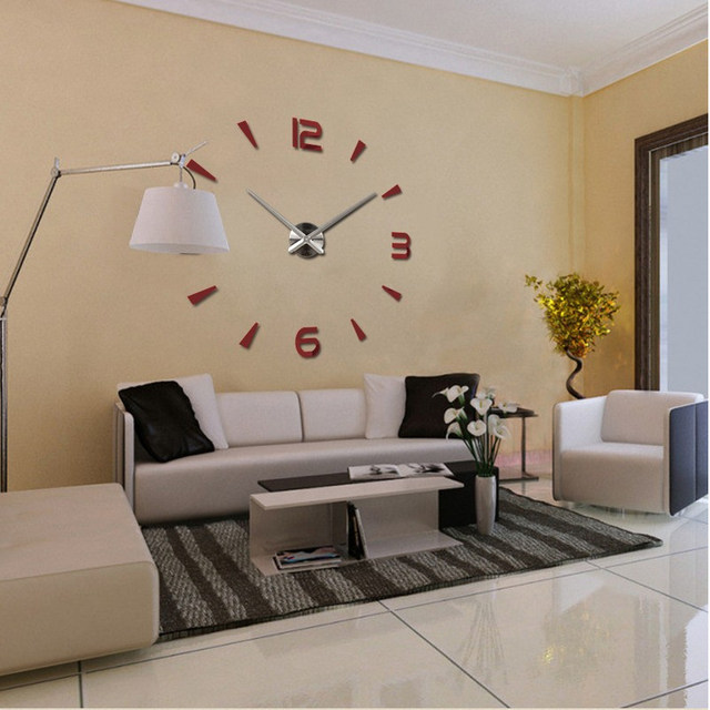 Online Shop 2017 Special Large Diy Quartz 3d Wall Clock Living Room