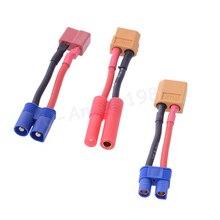 100 Brand New 1pcs T plug to XT60 EC3 Tamiya Plug Connector Balance Charge Cable for