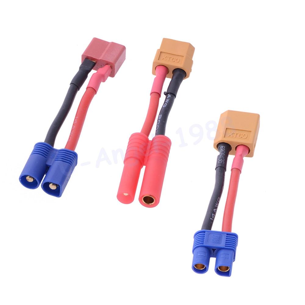 1pcs T plug to XT60 EC3 Tamiya Plug Connector Balance Charge Cable for RC Quadcopter LiPo