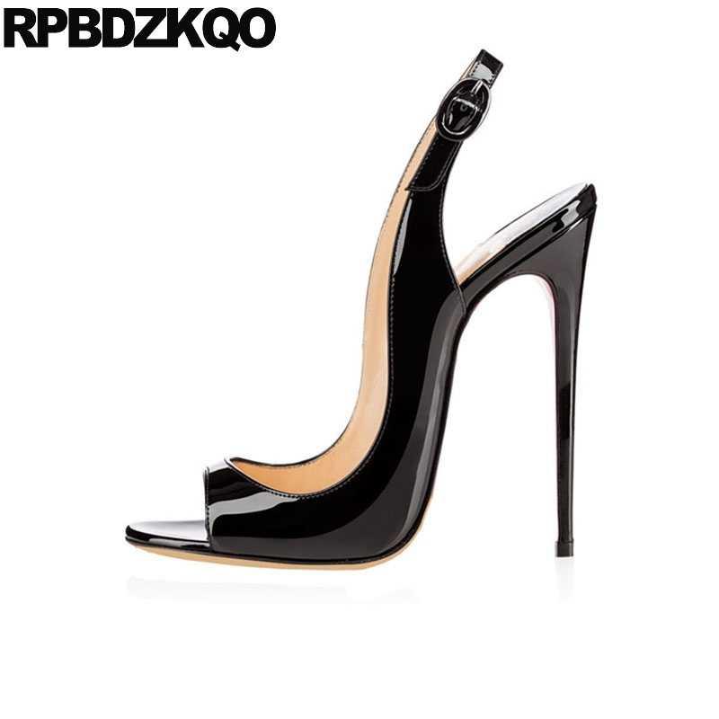 855712557bf8 Sandals High Heels Fetish Stripper Slingback Designer Shoes Women Luxury  2017 Sexy Big Size Crossdressed Pumps