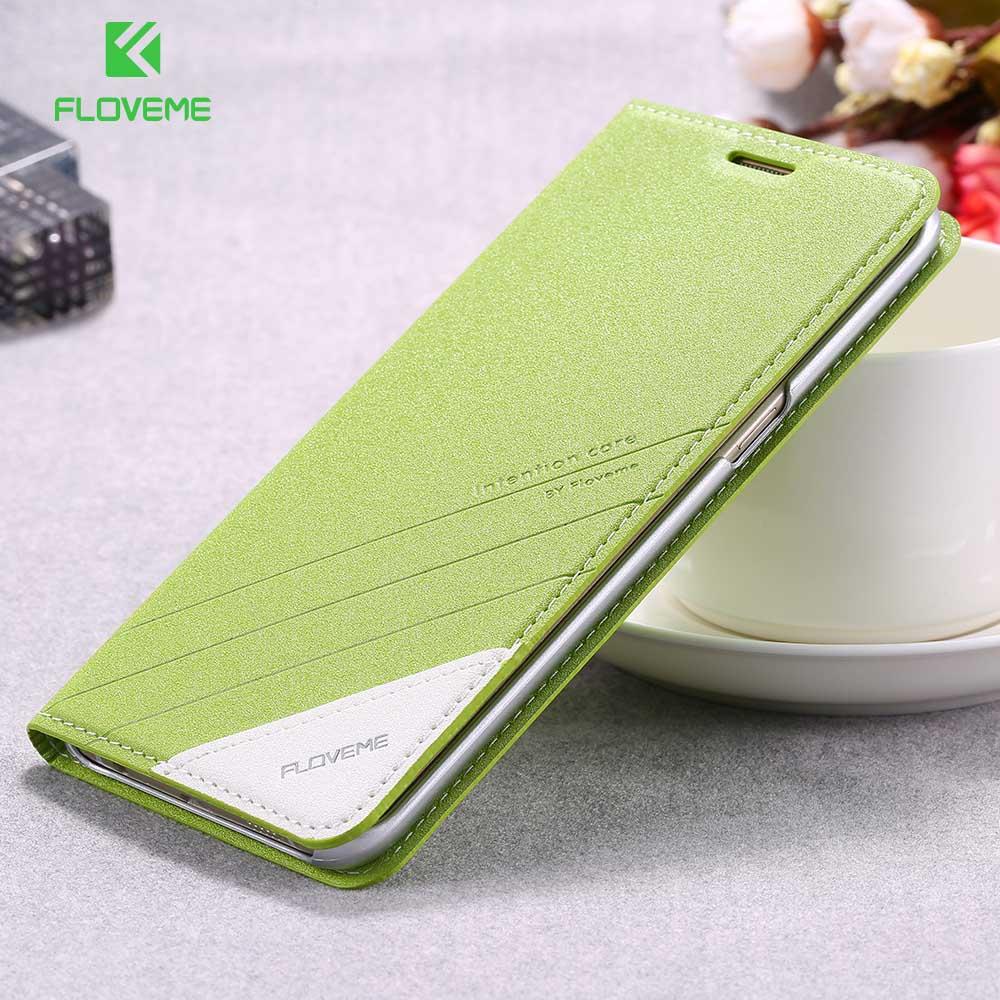 Galleria fotografica FLOVEME Flip Case For Samsung Galaxy S6 S6 Edge S8 S8 Plus Leather Stand Wallet Cover Case For Samsung Galaxy S7 S7 Edge