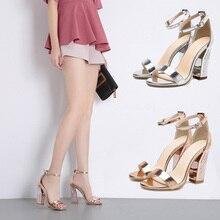 bf543ba5f Mulheres elegantes Sandálias de Verão 2019 Das Mulheres 10.5 centímetros de Salto  Alto Sandálias Da Moda