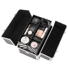Large Makeup Organizer Bag with Key Lock