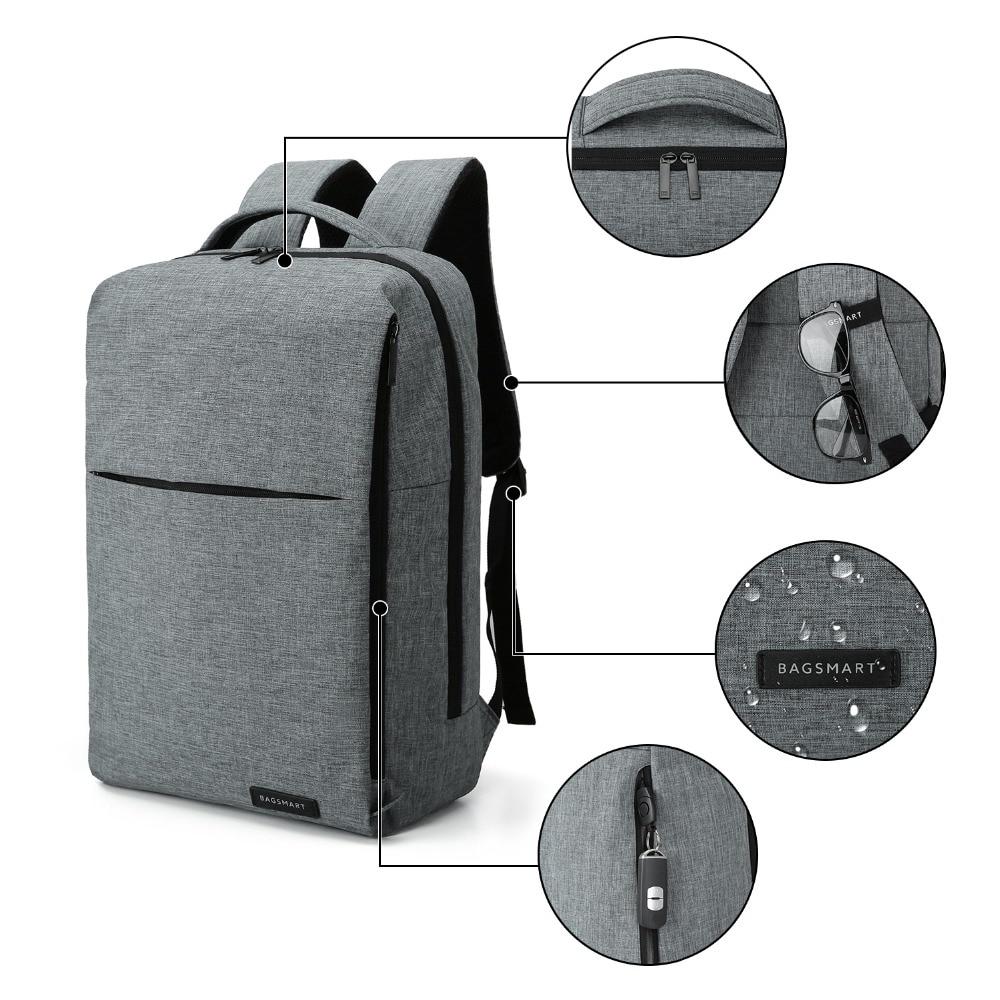 BAGSMART Nouveau sac à dos pour ordinateur portable Multifonction Sac À Dos 15.6 Pouces sac à dos pour ordinateur portable pour Femmes Hommes cartable sac à dos pour mochila mâle - 3