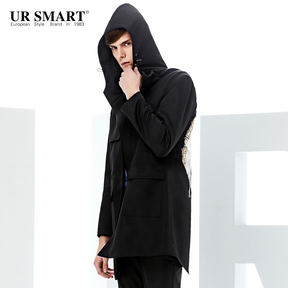 Popular Mens Long Black Trench Coat with Hood-Buy Cheap Mens Long ...