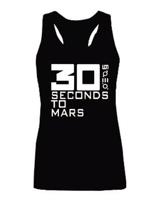 Nova chegada 30 Seconds To Mars de cobre de qualidade moda Vest Tops sem mangas da menina sml XL 2XL