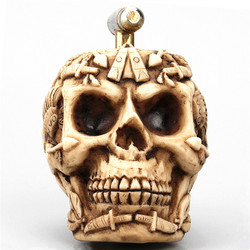 Ofício da resina Crânio Estátua de Decoração Para Casa Acessórios Criativos Figurinhas Do Crânio da Água-tap Decoracion Hogar Crânio Água-tap
