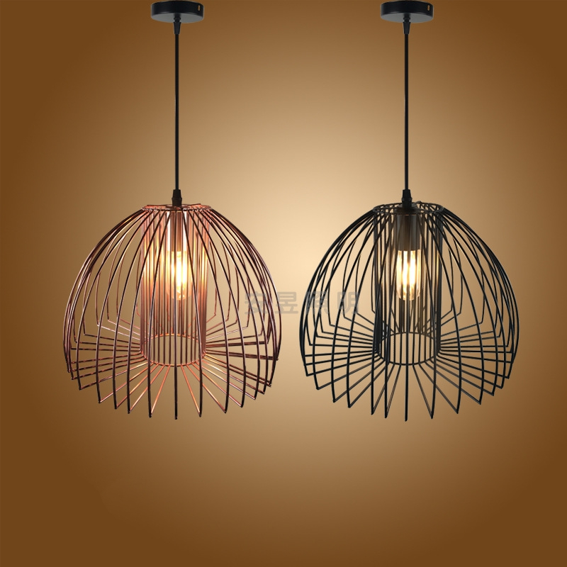 Creative antique lanterns Pendant Lights vintage E27 iron birdcage Pendant lamp for kitchen living room restaurant Coffee Bar лонгслив dzeta