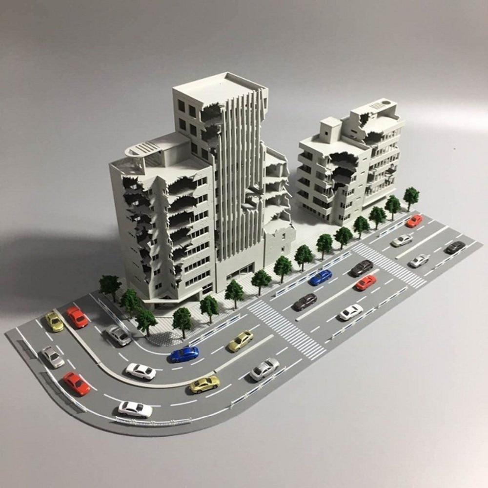 N Scale Homestay Hotel Outland Building Model 4 Story Homestay Hotel Model 1:144
