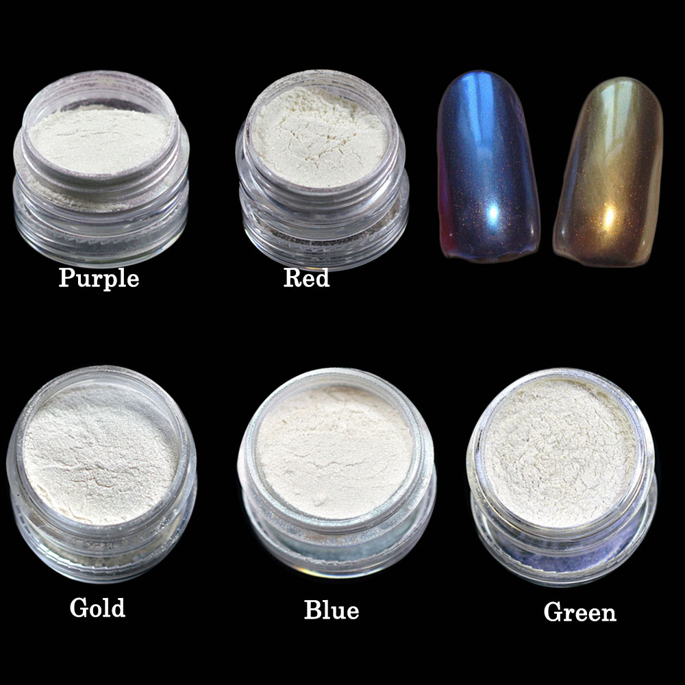 Nails Art & Werkzeuge 1 Box Meerjungfrau Wirkung Shinning Nagel Glitter Pulver Mit Pinsel Diy Sparkly Magie Schimmer Nagel Tipps Trnd262