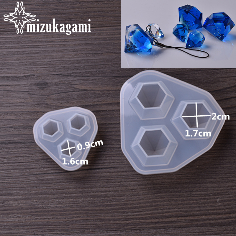 1pcs/lot Silicone Mold Resin Molds For DIY Small Diamond Pendant Pendant Diamond Die Mould DIY For Jewelry