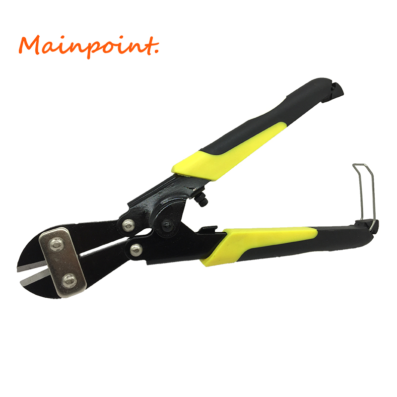 8 Inches Black&Yellow Handle Mini Bolt Cutter Steel Wire Cutting Clamp 65 # Manganese Steel Crimping Plier Cutter Hand Tools
