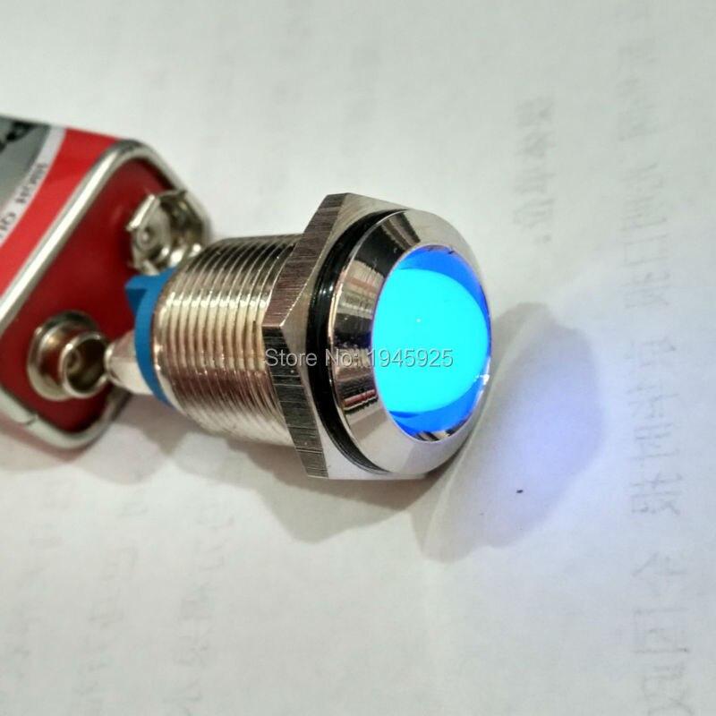 16mm Thread Dia Concave White Signal Indicator Lamp Pilot Light
