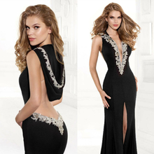 sexy backless 2018 saree michael korns sexy v-neck brides formal gown sleeveless