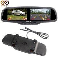 Sinairyu Car 4 3 Dual Screen Mirror Monitor Rearview Backup TFT LCD Display 4CH Video Input