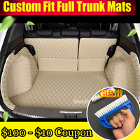 FUWAYDA Car Trunk Mats Customized for VW Volkswagen Tiguan Touran Touareg POLO CC Golf 4/6/7 3D Waterproof Trunk Carpets