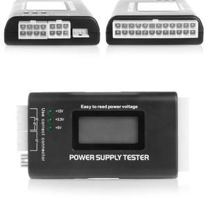 عالية الجودة الرقمية LCD امدادات الطاقة فاحص متعددة الوظائف كمبيوتر 20 24 دبوس Sata LCD PSU HD ATX BTX اختبار الجهد مصدر C26