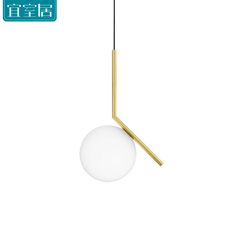 Modern Art Deco lamp Glass Fixtures with gold Home decor led pendant light contemporary