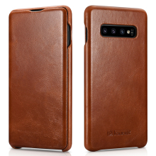 New Slim Cowhide Genuine Leather Flip Case for Samsung Galaxy S10 Business Real Leather Smart Phone Cover for Samsung S10 Plus