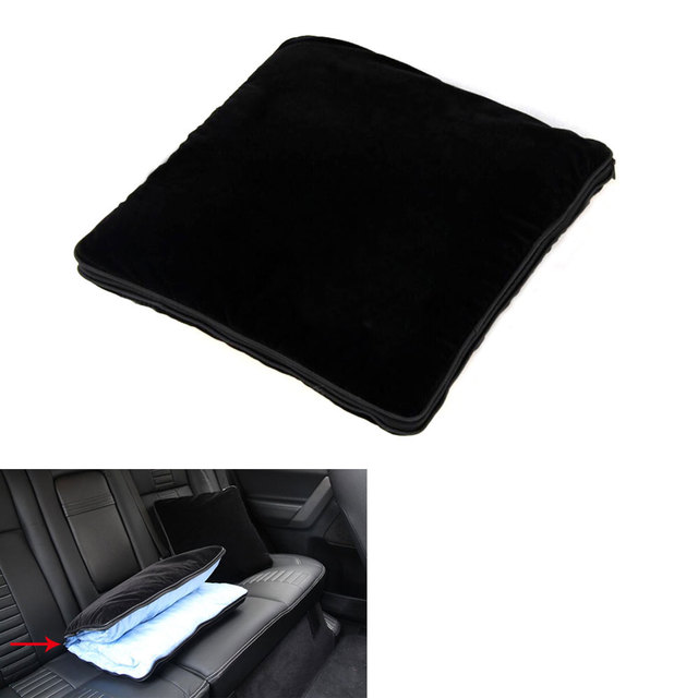 Universal Car Black Pillow Blanket Cotton Dual Purpose Pillow Soft Blanket Cushion/Pillow open can be as quilt/blanket for car