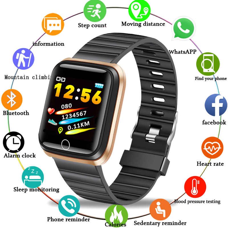 LIGE New Men's Smart Sports Watch Ladies Fitness Tracker Pedometer Blood Pressure Heart Rate Monitor Waterproof Smart Watch