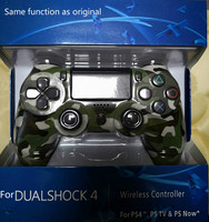 Green Camouflage Six axis 2nd Generation For PS4 Gamepad ps4 wireless game controller ps4 Bluetooth 4.0 with lights Joystick