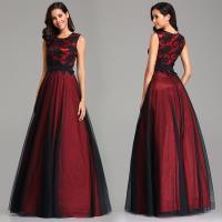Image 2 - Vestido de festa longo de ever pretty, com apliques em renda real, vestidos longos de baile, elegante a linha jurken