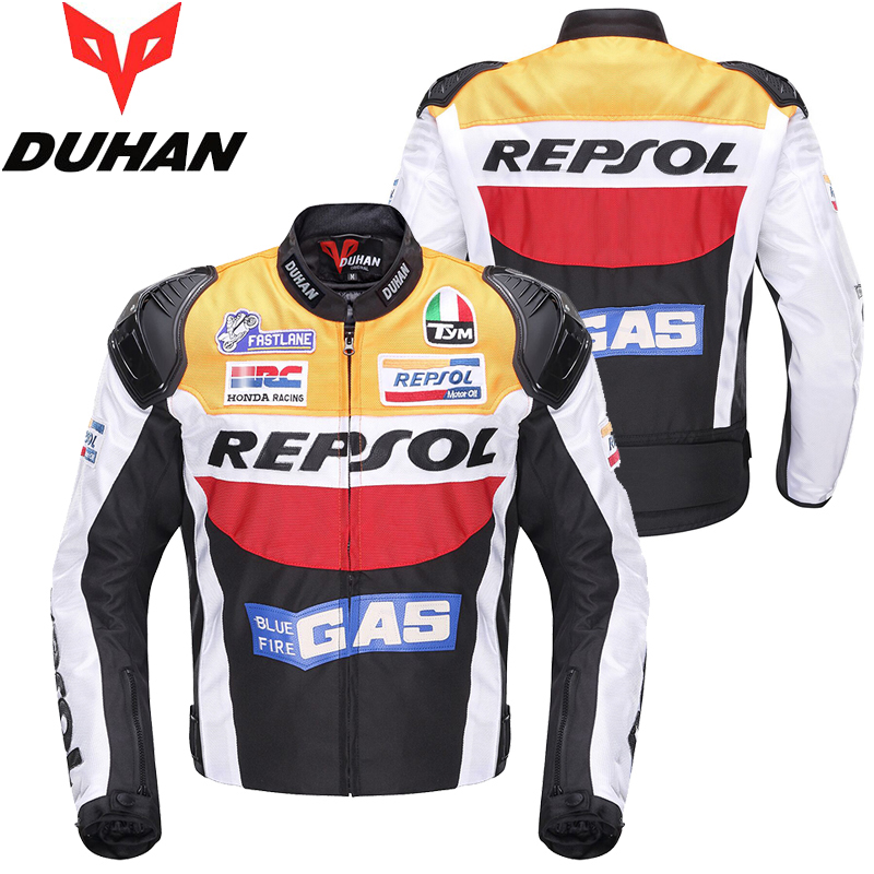 Brand New DUHAN Moto GP Racing Jackets motorbike REPSOL Motorcycle/Motocross Riding Leather Motorcyclist Clothing for Men Coats